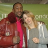 British Welterweight Champion with Marianne Marston at the weigh in for her WBU European Title shot March 2014