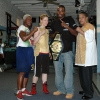 Dee Moses, Marianne Marston, Yusaf Mack and Shar'ron Baker at Shulers Gym in 2008