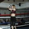 Marianne becomes a ringcard girl at the TRAD TKO/WBU Charity Boxing Event Feb 2014