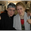 Angel McKenzie and Marianne Marston following a sparring session at the TRAD TKO Gym