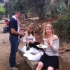 Dave, Alison and Marianne at the Goudy Park in Barcelona