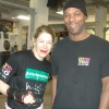 Marianne with coach Brian O'Shaughnessy at teh TRAD TKO Gym