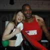 Marianne does the corner for Brian O'Shaughnessy at the TRAD TKO/WBU Charity boxing event Feb 2014