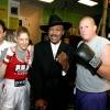 Marianne with Joe Frazier and other gym members in 2007