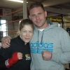Marianne and Billy Joe Saunders at the TRAD TKO Gym in Feb 2014