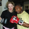 Marianne with sparring partner Ian 'Dappa' Napa