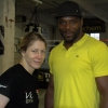 Marianne with Mark Prince ahead of their March 2014 fights