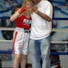Marianne with Robert 'Bam Bam' Hines at Shulers Gym in 2008