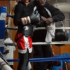 Steve 'USS' Cunningham cornering Marianne at Shulers Gym in 2008
