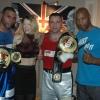 Wayne Elcock, Marianne Marston, Tony 'Oakey Kokey' Oakey and Brian O'Shaughnessy at the TRAD TKO/WBU Charity boxing event in February 2014