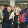 Promoter Dave Murphy, Barry Smith, Marianne Marston and Darren Hamilton